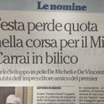 DE MICHELI, IN POLE PER LO SVILUPPO ECONOMICO?